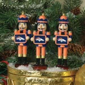 Denver Broncos Nutcracker Ornaments 3pk NFL Football Fan Shop Sports