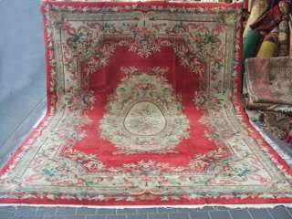 Beautiful hand woven art deco Chinese Antiques Carpets 360x270 cm/141