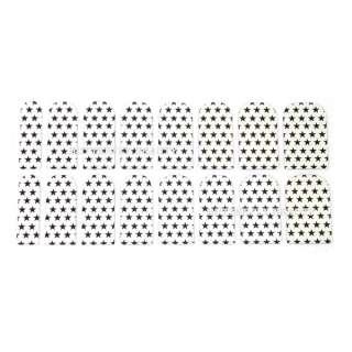 16pcs Nail Art Black Star Sticker Foils Patch Manicure Decoration V080