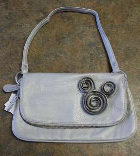 NWT Disney Parks MICKEY MOUSE Silver Zipper Tape Bag Handbag
