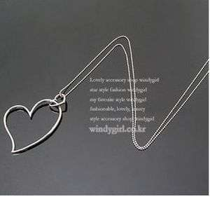 Double Heart Shape High Luster Fashion Lady Girl Necklace Pendant New
