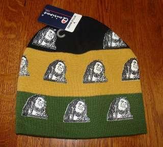 Black Gold Green Bob Marley Rasta Beanie Knit Cap
