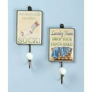 LAUNDRY ROOM towel WALL HOOKS iron clothes home Decor: