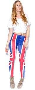 WOMEN ENGLAND UNION JACK BRITISH FLAG LEGGINGS TIGHTS
