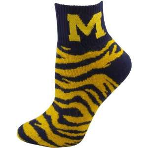 Michigan Wolverines Ladies Navy Blue Maize Tiger Stripe