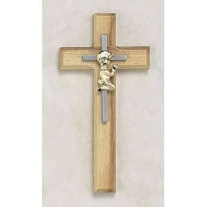 Boy Oak Wall Cross Baptism Christening Religious Gifts: Home & Kitchen