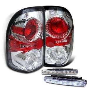 Eautolights 97 04 Dodge Dakota Tail Lights + LED Bumper Fog Lamp Set
