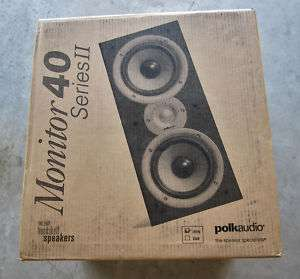 Polk Audio Monitor 40 Series II Speakers BLACK   PAIR