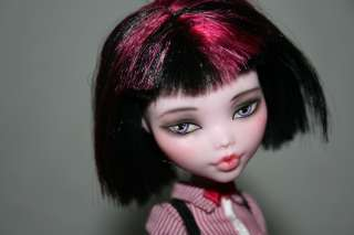 Custom Monster High Draculaura Doll OOAK Repaint Cute haircut and