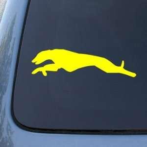 GREYHOUND RUN   Dog   Vinyl Car Decal Sticker #1519  Vinyl Color