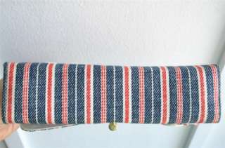 VTG 60s lot 2 navy blue red white stripe mod handbag purse