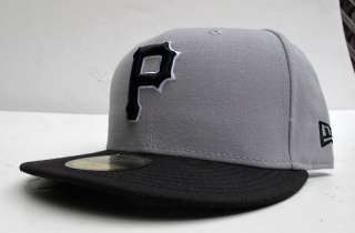 Pittsburgh Pirates Grey Black All Sz Cap Hat by New Era