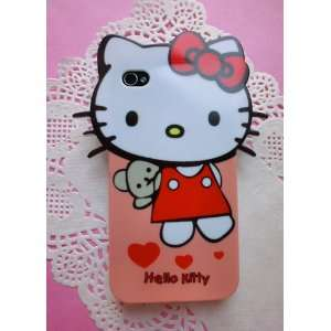 iPhone4 Case Cute Big Head Hello Kitty Back Cover Case for