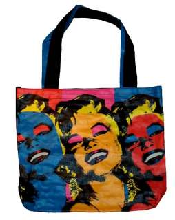 Marilyn Monroe Multicolored Pop Art Canvas Tote Bag