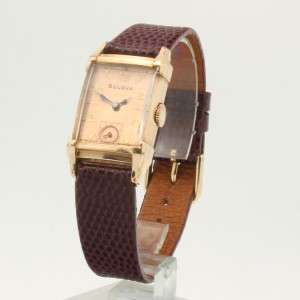1940s Art Deco Bulova Rose Gold Filled Mens Watch Superb with Vintage