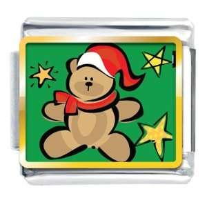 Christmas Teddy Bear Italian Charms Bracelet Link Pugster