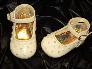 Baby Girl Ivory Beige Leather Dress Shoes/Wedding/254/SZ 2 3 4 5 6