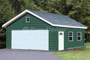 20 x 28 Gable Garage / Workshop Building Plans #52028