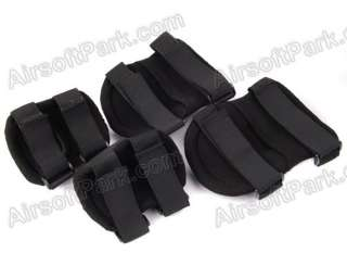 Balck Tactical Knee&Elbow Protective Pads Set