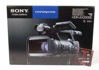 S2652 Sony HDR AX2000E PAL HDV Full HD Camcorder Black+Gifts+1Wty