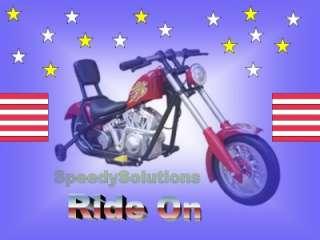 Kids Ride On Mini Power Chopper Motorcycle Hog Wheels