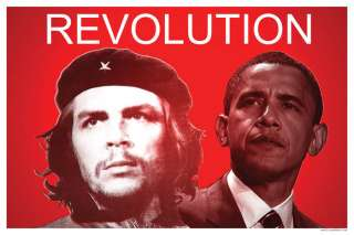 Barack Obama With Che Guevara Revolution Poster