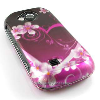 Pink Heart Flowers Hard Case Cover Samsung Reality U820