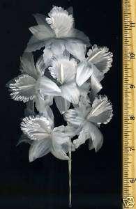 12 White Orchid Wedding Bridal Flower Pick Filler Favor