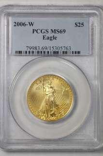 2006 W United States Mint $25 Dollar Gold American Eagle Bullion Coin