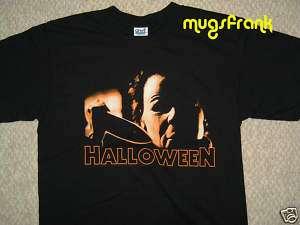 New Michael Myers Halloween Movie Holding Knife T Shirt