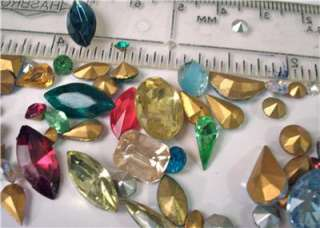 RHINESTONE JEWELRY STONE LOT REPAIR BROOCH PINS HUGE MIX CRAFTS