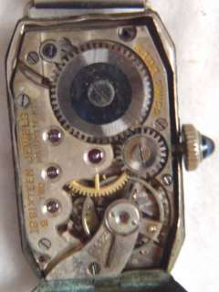 Elgin WHITE/GOLD FILLED Watches ART DECO? Hinged w/Sapphire?pin