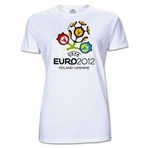 hidden UEFA Euro 2012 Womens T Shirt (White) Sports