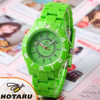 HOTARU Multi Colour Mens Lady Plastic Quartz Watch +Bag