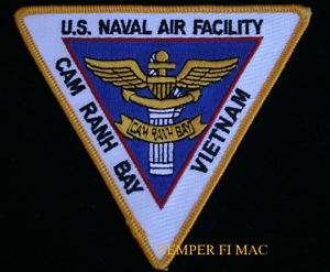 US NAVAL AIR FACILITY CAM RANH BAY VIETNAM PATCH USS |