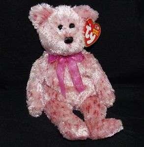 TY Beanie Baby SMITTEN Black Nose Valentine Bear 8MWMT