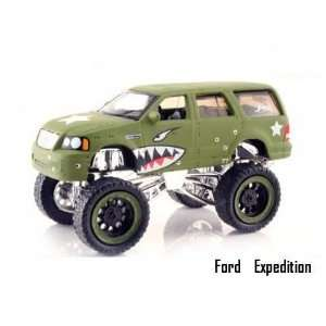Jada Dub City High Profile Green Military Ford Expedition