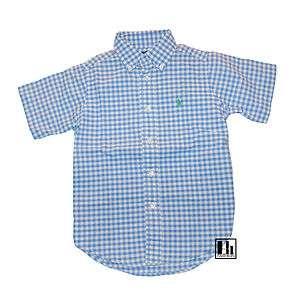 Ralph Lauren Boys Blake Oxford Blue Gingham Shirt
