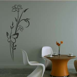 BUTTERFLY WALL ART STICKER DECAL huge removable vinyl uk FL40