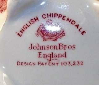 Johnson Brothers ENGLISH CHIPPENDALE PINK Creamer A+