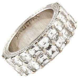 CHOPARD Ice Cube Diamond Gold Band Ring Size 6.5