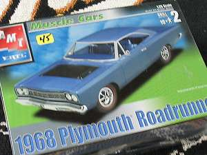 1968 PLYMOUTH ROADRUNNER AMT 125 SCALE KIT FREE SHIPPING !