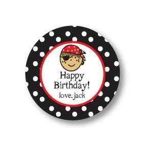 Polka Dot Pear Design   Round Stickers (Pirate   519r)