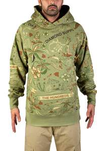 Diamond Supply Co X The Hundreds All Over Print Pullover Hoodie