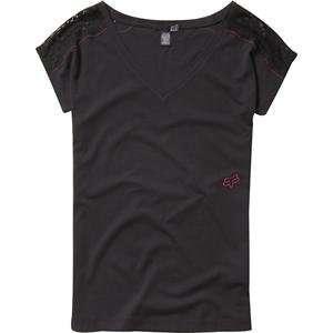 Fox Racing Womens Semi Gloss T Shirt   Large/Black