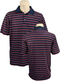 Bermuda Sands Striped Performance Mens Polo Shirt