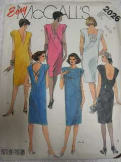 VTG McCalls 2026 Womens LOW BACK DRESS Sewing Pattern