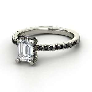 Reese Ring, Emerald Cut Diamond 14K White Gold Ring with