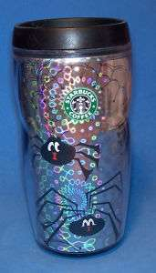 Starbucks Coffee Travel Tumbler Halloween Spiders 2003