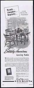 1952 Stickley Furniture Gateleg Table Vintage Print Ad
